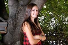 Teenager with her arms crossed Royalty Free Stock Photography