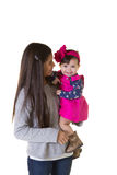 A teenager and her baby sister Royalty Free Stock Images