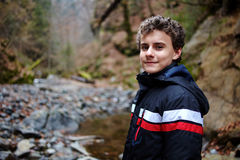 Teenager hiker Stock Photography