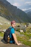 Teenager hiker Stock Image