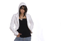 Teenager in hoddy Fotografie Stock Libere da Diritti