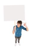 Teenager holding copyspace Stock Images