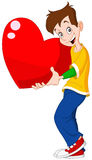 Teenager holding heart valentine Stock Image