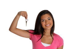 Teenager Holding Keys Stock Photo
