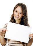 Teenager holding a piece og paper Stock Image