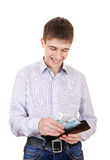 Teenager holds Russian Currency Royalty Free Stock Photo