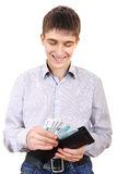 Teenager holds Russian Currency Royalty Free Stock Photos