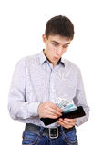 Teenager holds Russian Currency Royalty Free Stock Images