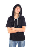 Teenager in hood Royalty Free Stock Photography