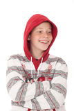 Teenager in hood royalty free stock photos