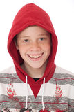Teenager in hood Stock Photography