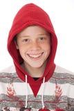 Teenager in hood Stock Photography