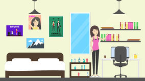 Teenager in house. Royalty Free Stock Image