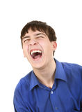 Teenager Hysterical Laughing. Happy Teenager Hysterical Laughing Isolated on The White Background Royalty Free Stock Images