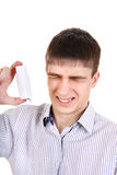 Teenager with Inhaler Stock Images