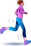 Teenager jogging Royalty Free Stock Image