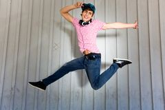 Teenager jumping Stock Photos