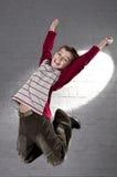 Teenager jumping Royalty Free Stock Image