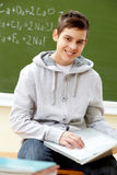 Teenager with laptop Stock Photo