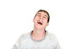 Teenager laughing Royalty Free Stock Photo