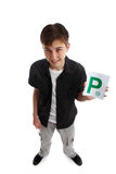 Teenager with licence P Plates Royalty Free Stock Photo