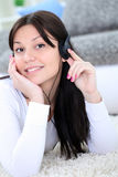 Teenager listening music Royalty Free Stock Photography