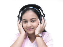 teenager listening to music Royalty Free Stock Photos