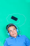 Teenager Listening to Music Stock Photography