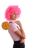 Teenager with lollipop Royalty Free Stock Photos