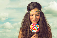 Teenager with Lollipop Stock Photos