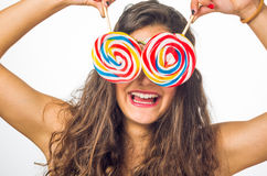 Teenager with Lollipop Stock Image