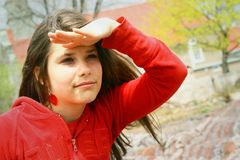 Teenager looking far away Royalty Free Stock Photography