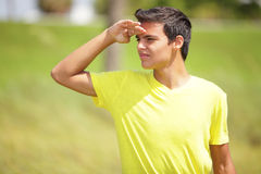 Teenager on the lookout Stock Image