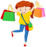 Teenager with lots of shopping bags Royalty Free Stock Photos