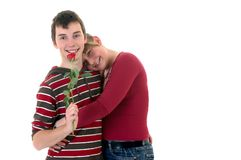 Teenager love Royalty Free Stock Photos