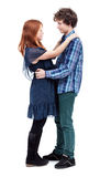 Teenager love - isolated Stock Image