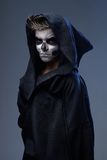 Teenager with makeup skull cape Royalty Free Stock Photo