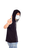 Teenager in the mask Stock Photography