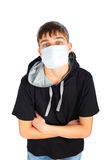 Teenager in mask Royalty Free Stock Images