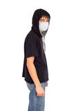 Teenager in the mask Royalty Free Stock Photo