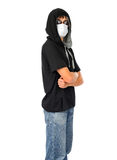 Teenager in the Mask Stock Images