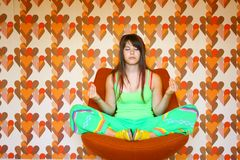 Teenager meditating Stock Photos