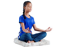 Teenager in meditation Stock Photos