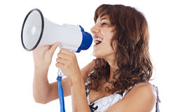 Teenager with megaphone Royalty Free Stock Photography