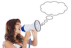 Teenager with megaphone Stock Photography