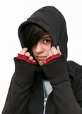 Teenager mit Kapuzenjacke Royalty Free Stock Photography