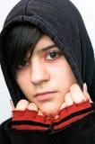 Teenager mit Kapuzenjacke Stock Photography