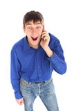 Teenager with mobile phone Stock Image