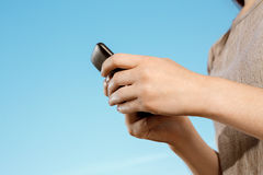 Teenager With Mobile Phone Stock Photography