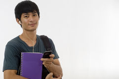 Teenager with mobile telephone Royalty Free Stock Images